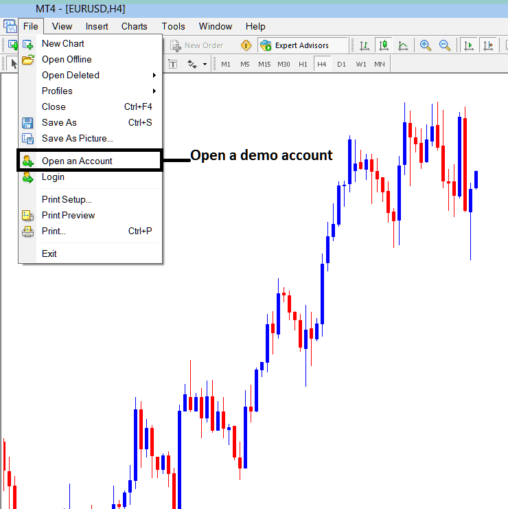How to Open a New Demo Account From MetaTrader Stock Trading Platform - MetaTrader 4 Demo Account