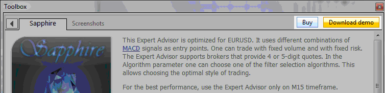 Example of how to get a Stock Expert advisor from the MT4 forum and MT5 forumMQL5 Market