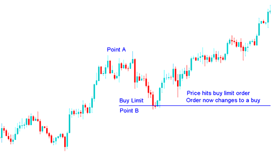Stock Price Hits Buy Limit, Order Now Changes to a Buy